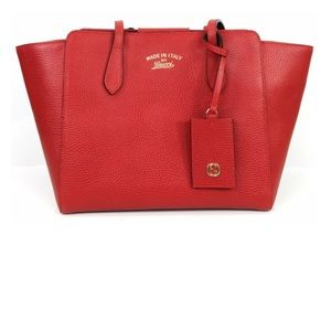 Gucci Swing Bag Leather Tote
